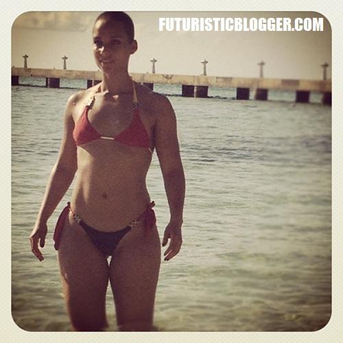Alicia Keys 2012 Swimsuit