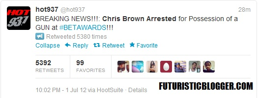 Chris Brown Arrested at the BET Awards For GUN Possession