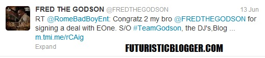 Fred The Godson Signs With E-1 Music