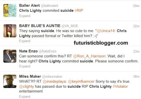 I hope  chris lighty is NOT dead