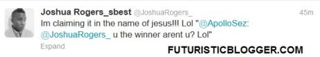 Joshua Wins Sunday's Best young buck