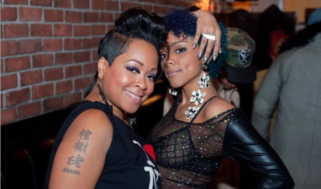 Monifah And Faith Bulding In Atlanta