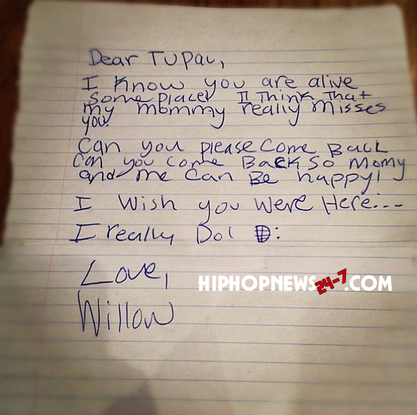 willow smith tupac 2 pac letter