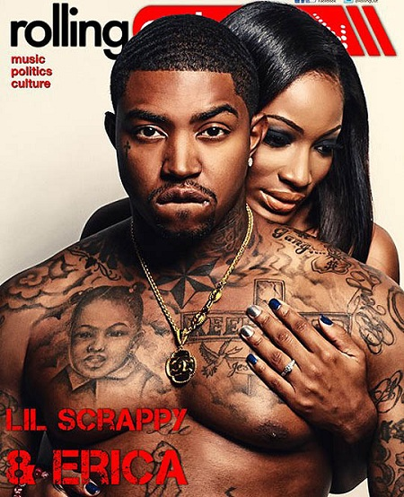 Lil Scrappy and Erica Rolling Out Magazine Cover