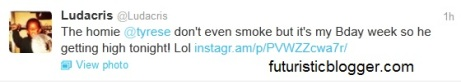tyrese smoking weed ludacris